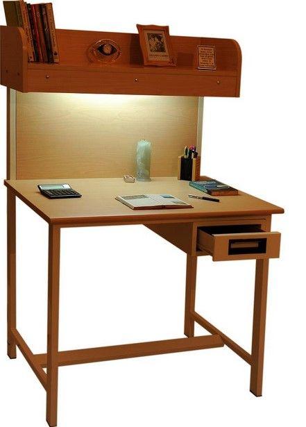Gambar Model Meja Ruang Belajar dan Kursinya 2 - Meja dan Rak Jadi Satu
