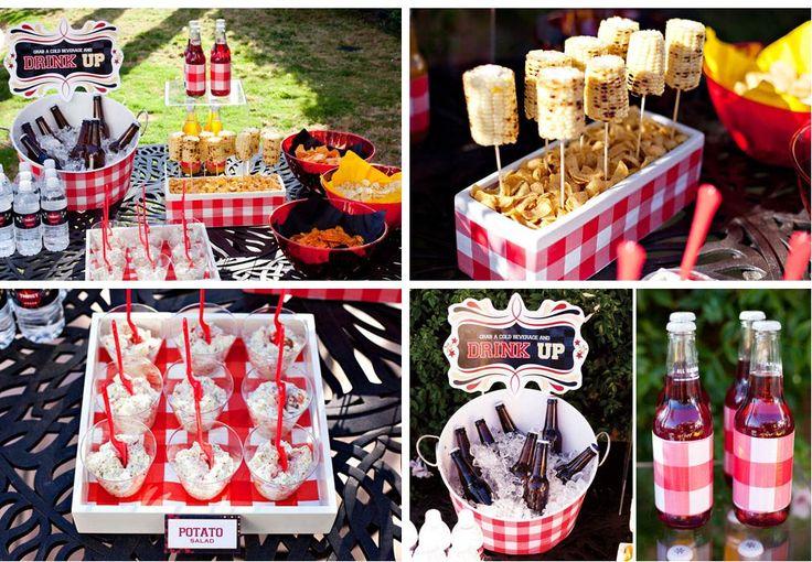 summer bbq party decorations mk bbq pinterest potato salad hot dogs and summer. Black Bedroom Furniture Sets. Home Design Ideas