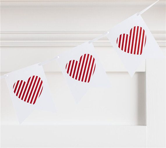 Valentines Heart Banner by FunWithPearl on Etsy