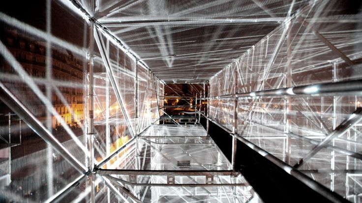 3D Bridge / Report #2. An architectural installation in Paris / FR / 2010. For the Nuit Blanche 2010 festival, 1024 Architecture designed a ...