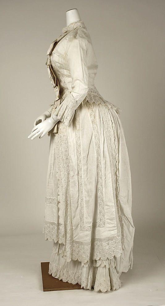 Dress  Date: ca. 1880 Culture: American (probably) Medium: cotton