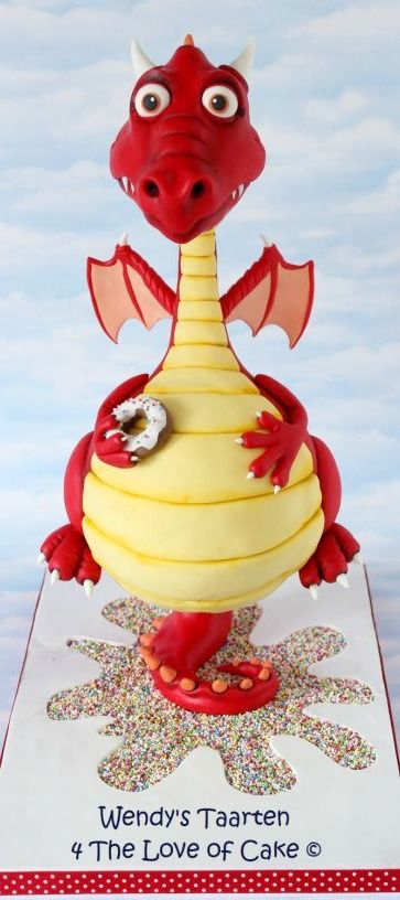 oh my cute dragon cake #littlethingsmatter