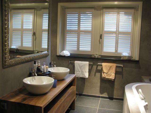 Houtwerk badkamermeubel hout modern | Houtwerk