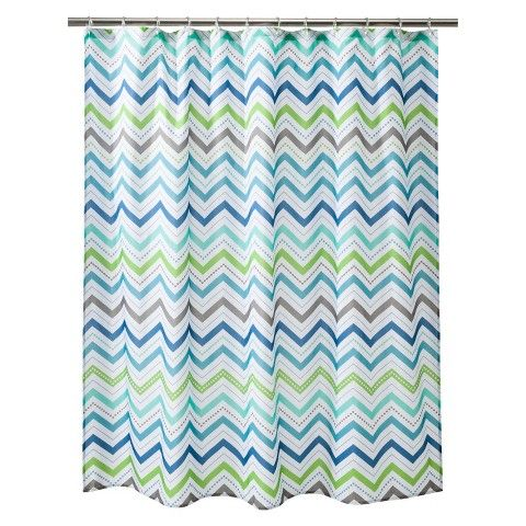 Circo Cool Chevron Shower Curtain Bathroom Pinterest Blue Chevron Chevron Shower