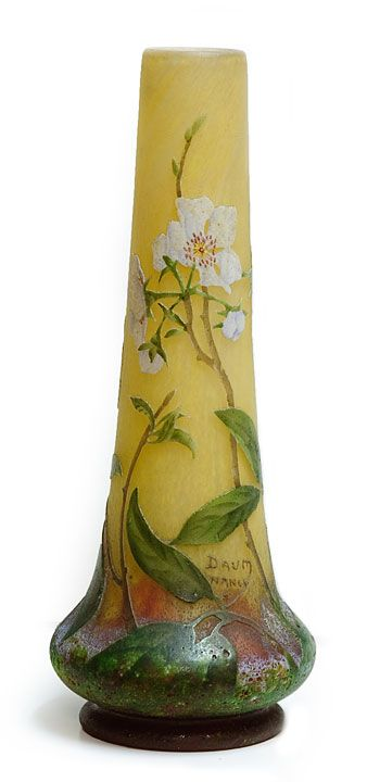 Apple blossom vase - by Nancy Daum <> (art glass, spring, decor, accessori, vintage)