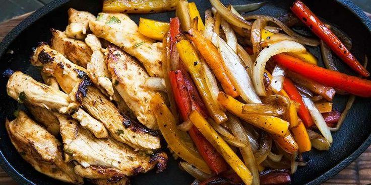 Fajitas με κοτόπουλο