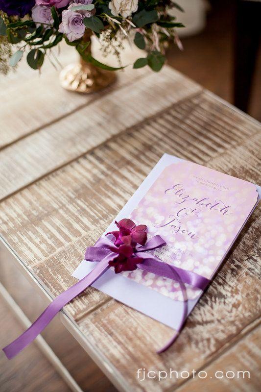 Items Similar To Bokeh Glitter Wedding Bridal Shower Radiant Orchid  Printable Invitation On Etsy