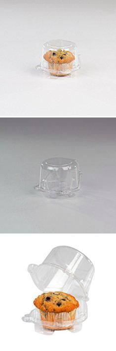 "Cheap Cupcake Containers. Single Serve Individual Plastic Cupcake / Muffin Container Clear PET, 2"" Bottom Length by MT Products - (Pack of 15).  #cheap #cupcake #containers #cheapcupcake #cupcakecontainers"