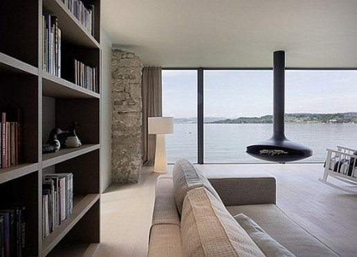 Love the floating fireplace,but the view takes the award!