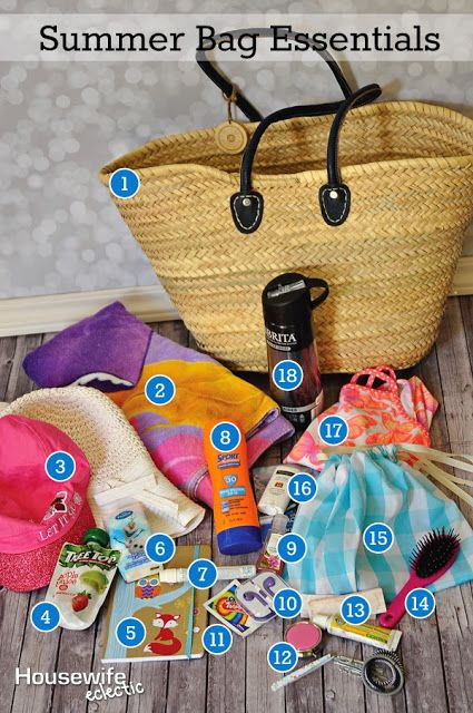 Housewife Eclectic: Summer Bag Essentials with a 15 Swim Suit Bag Tutorial. @BritaUSA @Walmart #BritaOnTheGo #Pmedia and #ad