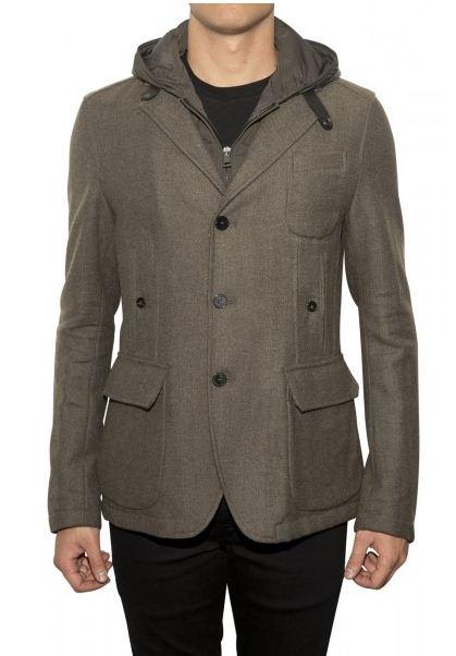 Gian Carlo Rossi Military Jacket in Grey.