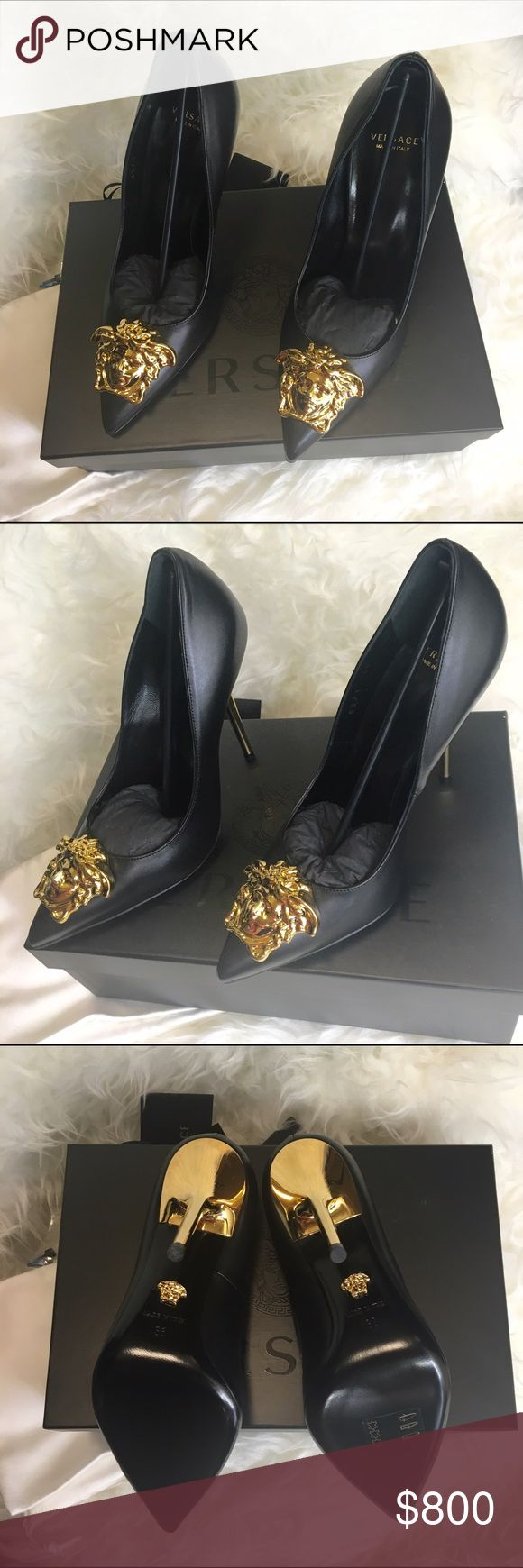 Versace Palazzo Pumps Brand New!!!  Authentic Versace Pumps!!! Never been worn. Reason for selling is I hardly wear heels. Includes: Original Versace Bag, Original Box, Original Tags, Xtra Heel Replc and original Receipt. EXACTLY HOW IT WAS SOLD! MSRP $895 plus Tax. Almost $1,000 Versace Shoes Heels
