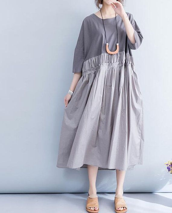 Women Cotton Long Dress Longsleeved Dress Pockets Dress Etsy Cotton Dress Summer Cotton Long Dress Maxi Dresses Casual