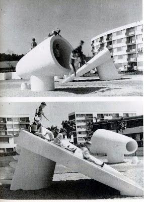 1958 – Cité de Jeux L'Haÿ les Roses, Val de Marne bts Design d'Espace Toulon / lycée la Tourrache Toulon: Playground / appropriation sculpturale de l'espace