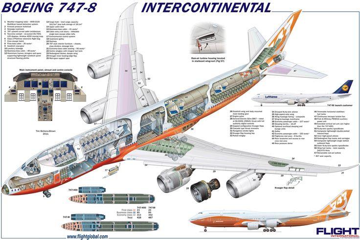 Boeing 747-8 Intercontinental cutaway