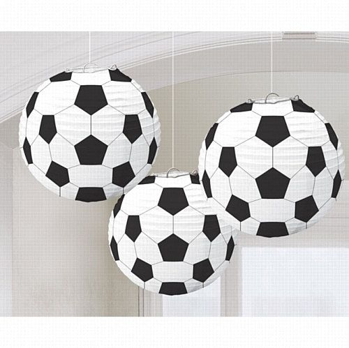 Soccer paper lanterns  football theme  tissue paper by evescrafts