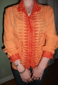 The adorable Marisa Lynch's new tangerine top! | Rit DyeRit Dyes, Adorable Marisa, Tangerine Tops, Fashion Refashion, Projects Inspiration, Marisa Lynch