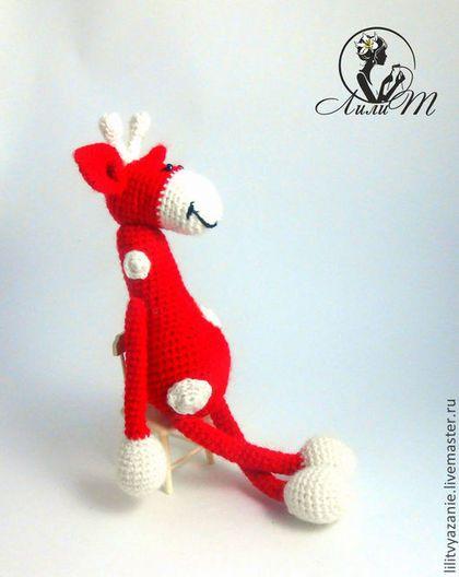 Игрушки животные, ручной работы. Ярмарка Мастеров - ручная работа Жираф- Степка. Handmade.
