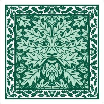 green man print