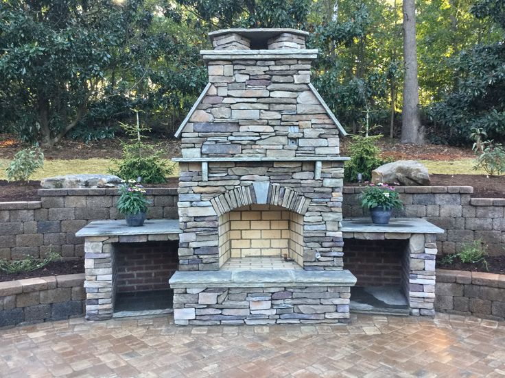 34 best Outdoor Kitchen & Fireplace images on Pinterest | Outdoor ...