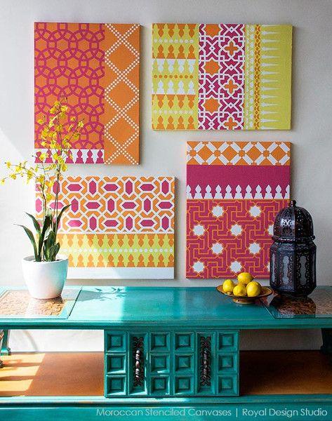 How to Use Moroccan Stencils for Pretty Custom Wall Art   Royal Design Studio