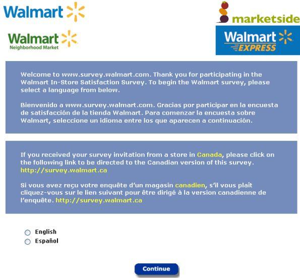 WalMart Customer Feedback Survey, wwwsurveywalmart - customer survey