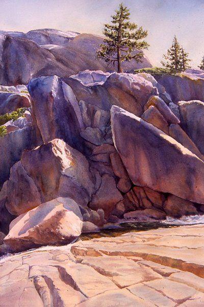"""Sierra Monument"" by Rosanne Seitz. Watercolor."