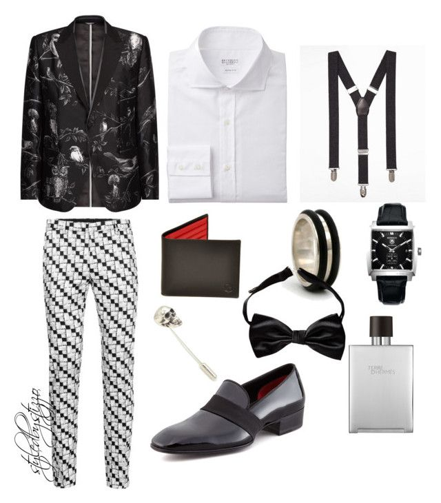 """""""Black and white"""" by stylingbystizzo on Polyvore featuring moda, Topman, Dolce&Gabbana, Tom Ford, Express, NOVICA, TAG Heuer e Hermès"""