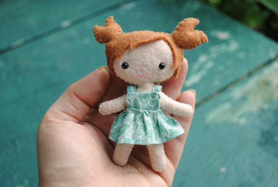 PDF Felt Doll Pattern Suzie Cutie Pie Pocket Doll by DelilahIris