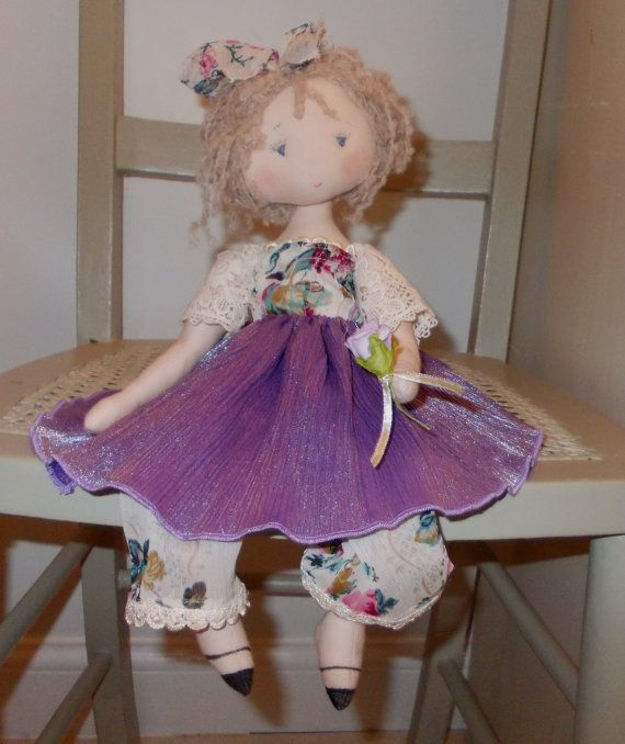 Handmade Cloth Doll by TheClothDollMaker on Etsy