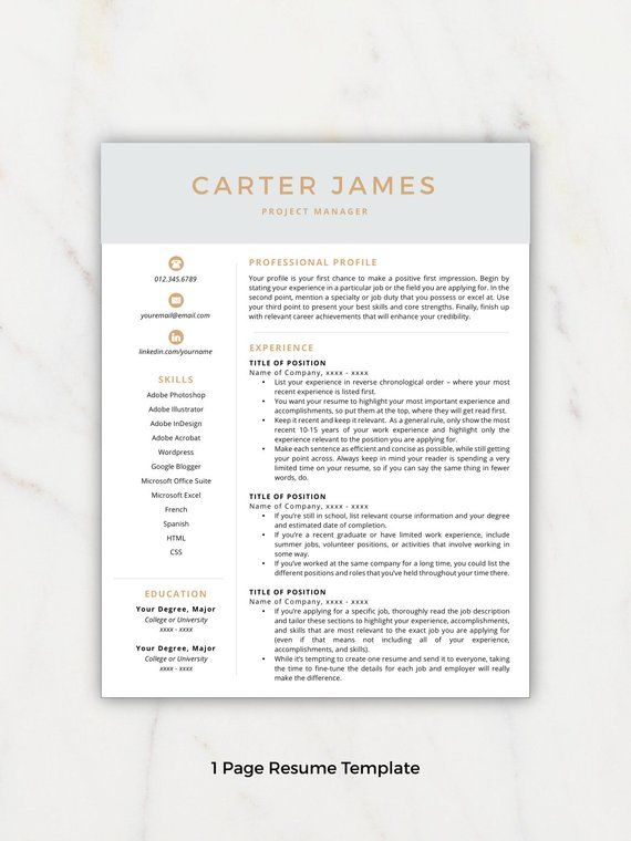 Resume Template Modern Resumes Free Cover Letter References Included M
