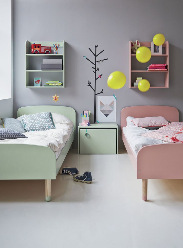 flexa pastel scandinavian style bedroom furniture from 18149 | 7fea58d6693c6b7b047ba42e171bcb87 shared bedroom kids shared bedrooms