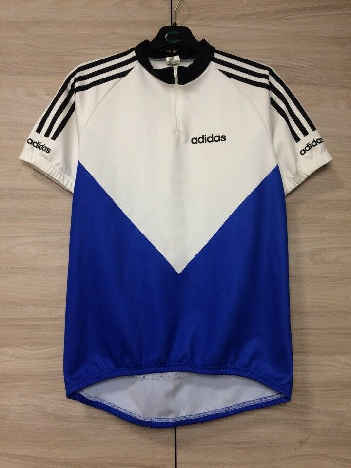 Adidas Vintage Cycling Jersey Shirt Maillot Maglia Camiseta Made in Italy  size 6  102b25c6e