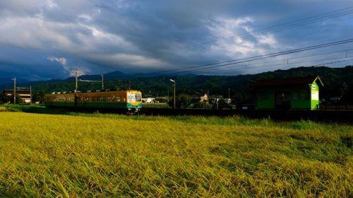 和の写心 By Masaaki Aihara . 家路の時富山県富山地方鉄道栃屋駅 FUJIFILM X-T2  FUJINON XF18-135mmF3.5-5.6 R LM OIS WR フィルムシミュレーションVelvia/ビビッド . 日本にいると明確な四季の移ろいがとても楽しみでありかつ写欲が湧きたてられるオーストラリアで撮影していると明確な四季の無いエリアが多いあるいは雨季と乾季にしか分かれていないエリアも多いただその分自然はダイナミックだメガサイズステーキみたいなのがオーストラリアの風景としたら日本の四季は懐石料理みたいな季節に彩られた繊細さどちらもそれぞれ味わいがある…