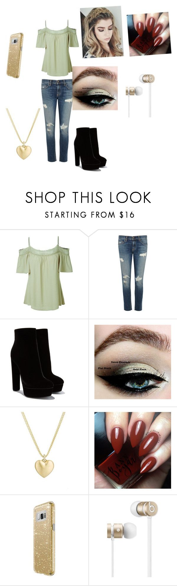 """""""day out"""" by emilyagee-367 ❤ liked on Polyvore featuring LE3NO, rag & bone/JEAN, Finn, Speck and Beats by Dr. Dre"""
