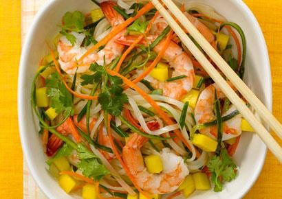 Mango-Shrimp Rice NoodlesMango Recipe, Heathy Food