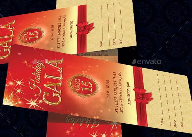 Holiday Banquet Ticket Template has a vintage design that will - design tickets template