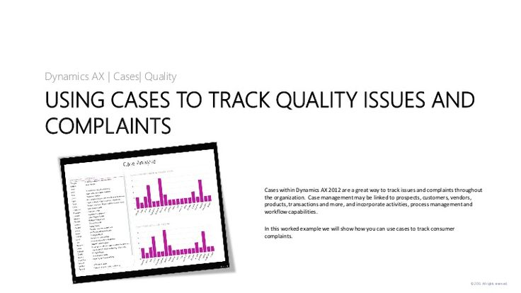 Using Cases to Track Quality Issues and Complaints in Dynamics AX 2012