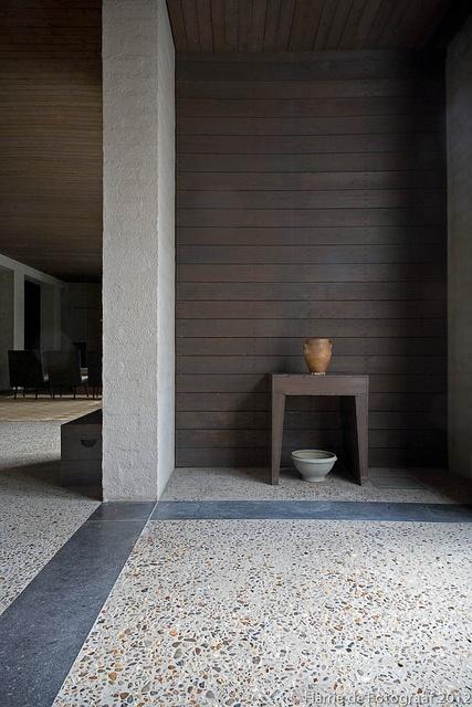 Interior of the house of 'Bossche School' architect Jan de Jong in Schaijk by Harrie de Fotograaf