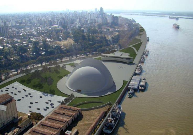 Puerto de la Música, Rosario, Santa Fe, Argentina.  El Puerto de la Música, proyectado por el destacado arquitecto Oscar Niemeyer, será un complejo cultural de sala de conciertos, centro de exposiciones y escuela de música, pensado para ser un espacio de cultura masivo, abierto e inclusivo.