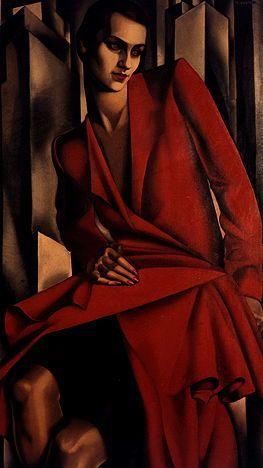 Tamara De Lempicka, 1898-1980, born Maria Górska in Warsaw, in partitioned Poland, was an Art Déco painter.