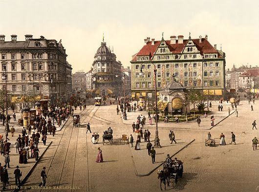 Munich - Karlsplatz, between 1890 and 1905