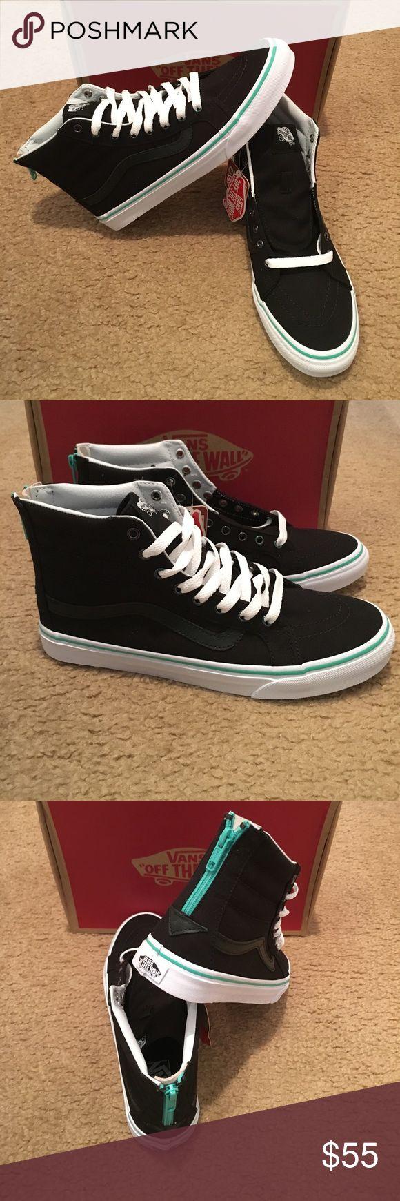 Iridescent Eyelets SK8Hi Slim Zip Vans VN000XH8IES New in box. Black Vans Shoes Sneakers