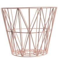 Ferm Living Wire Basket - Rose
