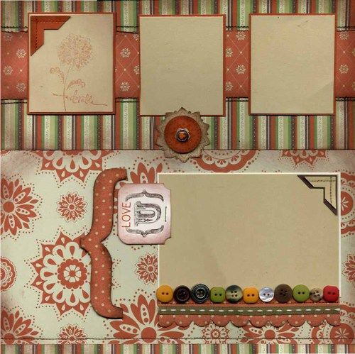 Stampin' Up! Apple Cider Paper page-1 Sweet layout!