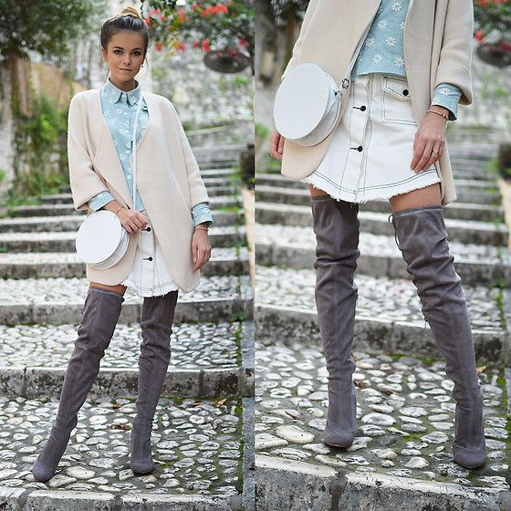 Get this look: http://lb.nu/look/8495297  More looks by Tamara Bellis: http://lb.nu/tamarabellis  Items in this look:  Zaful Denim Skirt, Sammydress Cardigan, Amiclubwear Over The Knee Boots, Wear Me Pro Sunglasses   #casual #chic #street
