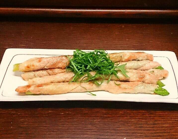 2015,8月~夕ご飯の1品♡ アスパラの豚肉巻き♥ ポン酢でいただきました♡