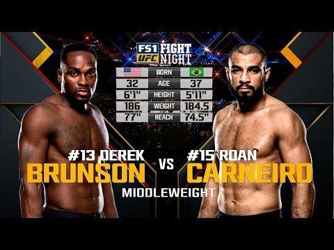 Fight Night Melbourne Free Fight: Derek Brunson vs Roan Carneiro