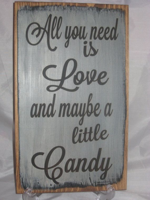 Rustic Wedding Sign All you need is Love and by ExpressionsNmore, $19.95