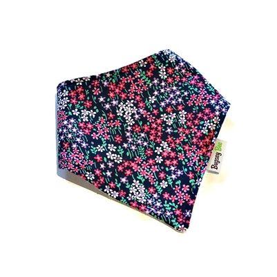 Midnight Floral Bamboo Dribble Bib.  Such a beautiful striking fabric.